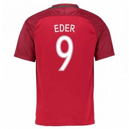 Portugal 2016 Eder 9 Hjemmedraktsett Kortermet.  http://www.fotballteam.com/portugal-2016-eder-9-hjemmedraktsett-kortermet.  #fotballdrakter