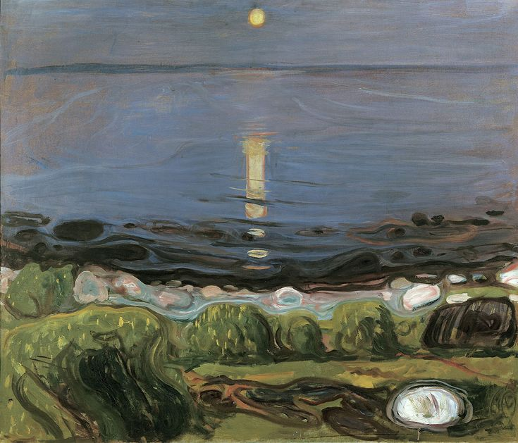 Edvard Munch (Norwegian, 1863–1944) Summer night by the beach, 1902-1903. Oil on canvas. Private collection.
