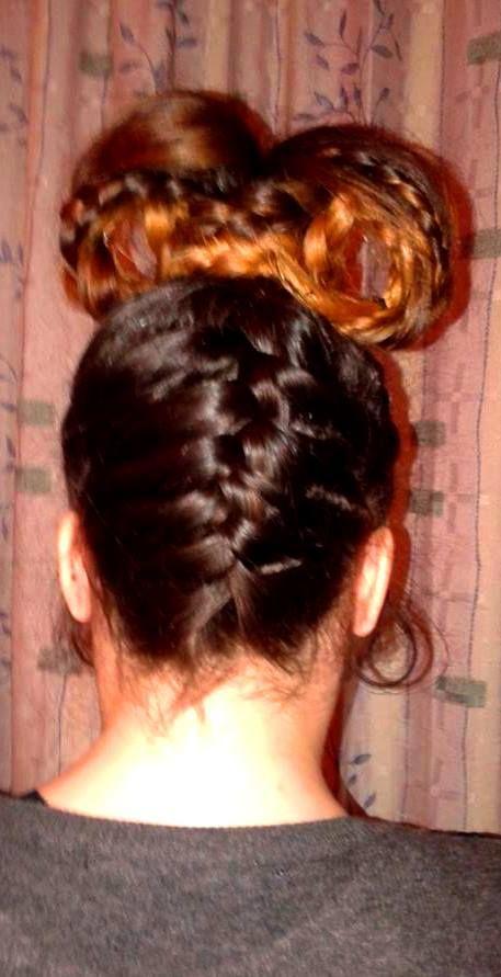 long hair braids @dwra86ntenti  #crete hair bow