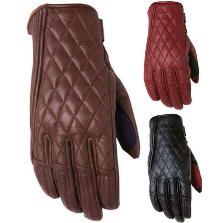 Vintage Leather Motorcycle Gloves