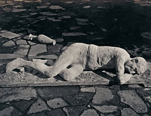 Plaster cast of the body of a slave from Pompeii
