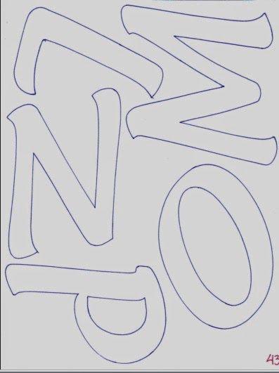 Abecedario de letras mayúsculas alargadas   Fomiart