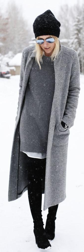 Grey Long Coat by Damsel In Dior • Street CHIC • ✿ιиѕριяαтισи❀ #abbigliamento:
