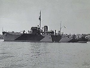 HMIS Bombay (J249) 1941, later INS Bombay, named for the city of Bombay (now Mumbai) in India, was one of 60 Bathurst class corvettes constructed during World War II and one of four operated by the Royal Indian Navy.