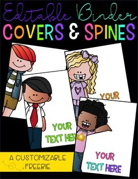 You are downloading a set of editable binder covers that can be used for any purpose in the classroom! The matching spines were created in the following sizes:*1 Inch*1.5 Inches*2 Inches*3 InchesIf you would like to use the same fonts that I used, you can download them for free for personal use.
