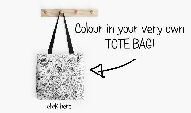 Colour-in a Tote Bag --- makes a perfect gift! #RedBubble #bags #art