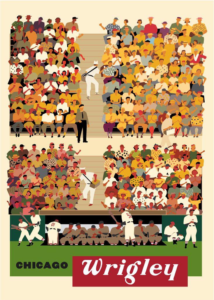Chicago Wrigley Baseball Stands