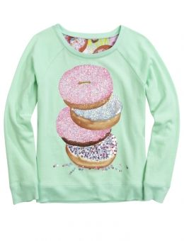 18.  Justice girls-teen sizes has photo- donut back