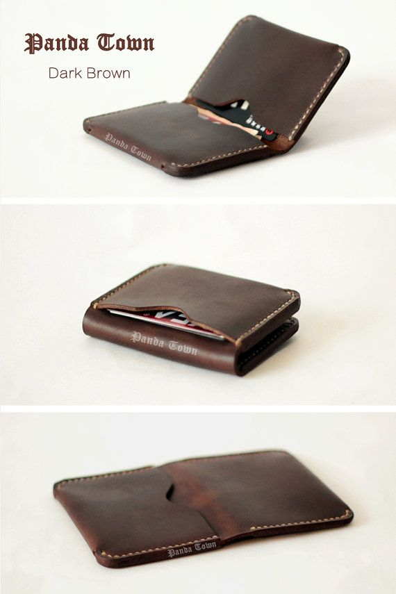 Free carving , Slim Leather Wallet,Thin Leather Wallet, Leather Wallet, Minimal Wallet, Handmade wallet , 19