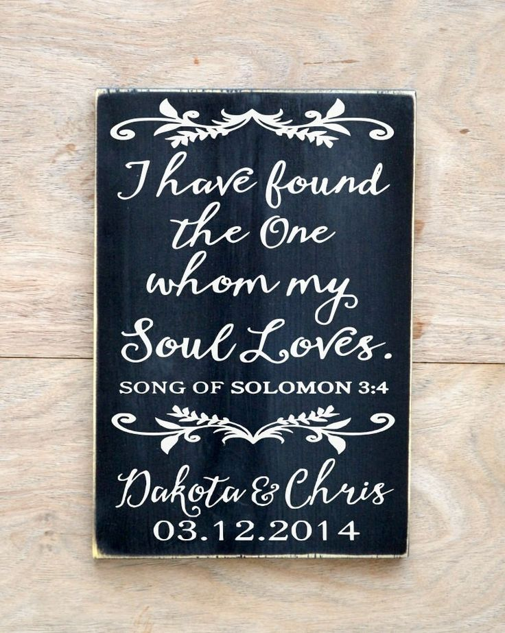 Personalized Scripture Wedding Sign Couples Engagement