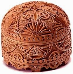 Carved pearwood box