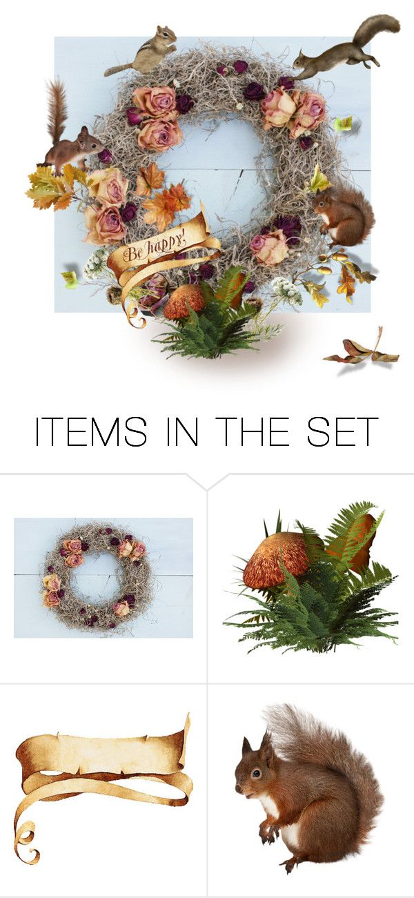 """A Fall Wreath"" by canisartstudio ❤ liked on Polyvore featuring art"