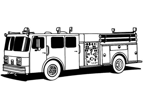Fire Truck Standard For Fire Fighting Coloring Page Truck Coloring Pages Coloring Pages Fire Trucks