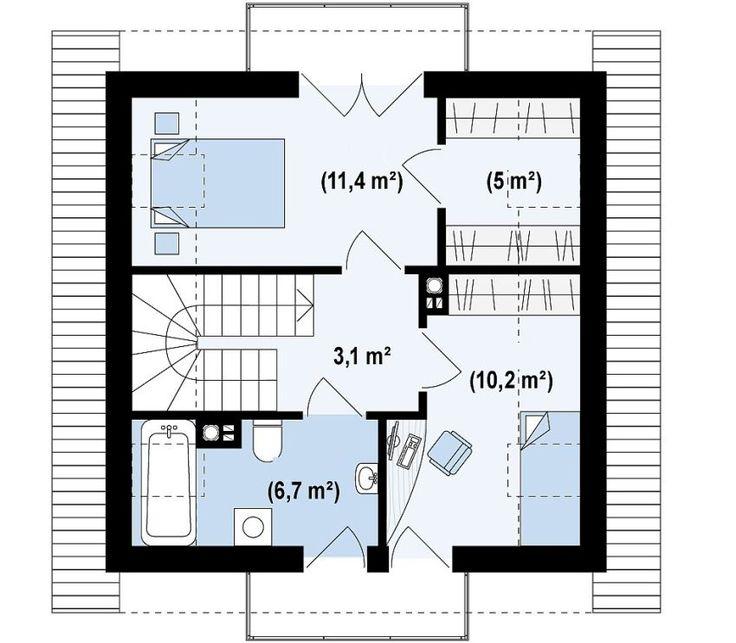 Proiecte de case mici sub 120 de mp Houses under 120 square meters 11