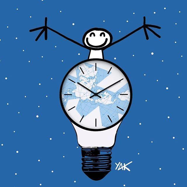 Earth Hour J-7 !!!  Participez symboliquement au mouvement avec @wwffrance et ELYX en éteignant vos lumières pendant 1 heure le 24 mars de 20h30 à 21h30 et reconnectez-vous à la nature !  #Connect2Earth #TogetherPossible #WeAreOne Carte de la Terre : Richard Buckminster Fuller