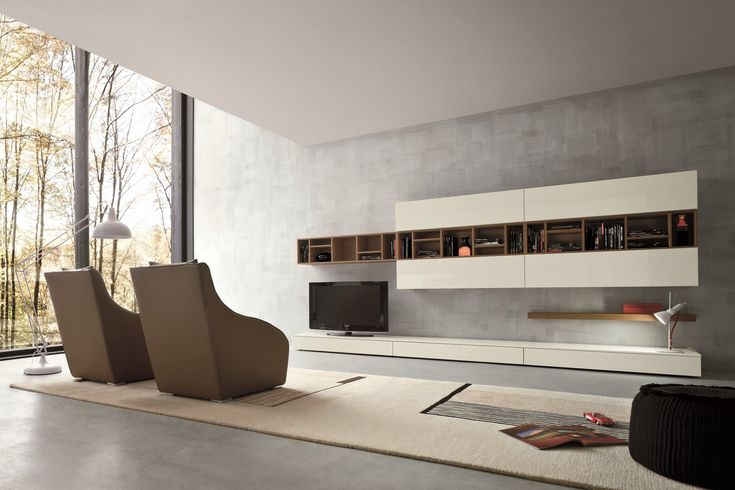 Sectional TV wall system SLIM 16 by Dall'Agnese design Imago Design, Massimo Rosa