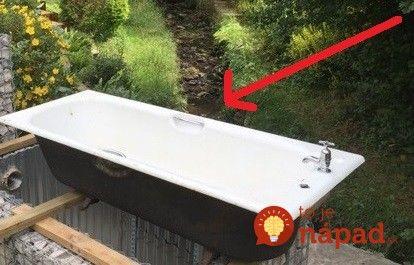 Po prerábaní kúpelne im ostala stará vaňa: Manžel ju postavil do záhrady a vyrobil z nej to najúžasnejšie prekvapenie pre svoju ženu!