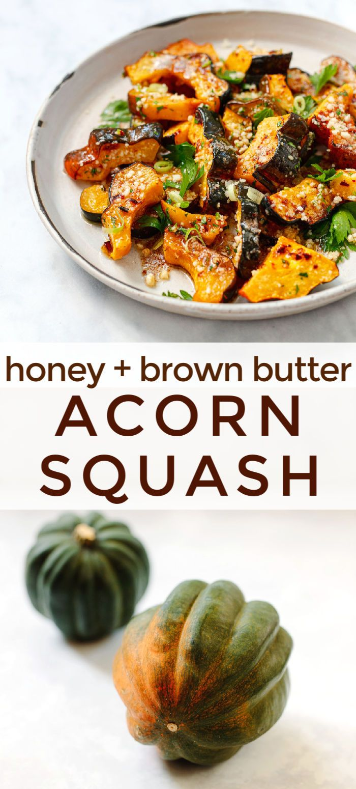 Roasted Acorn Squash With Brown Butter And Parmesan Recipe