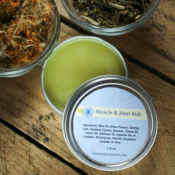 """The recipe I'm posting today is probablythe most popular item I sell. (You can find it in my onlineEtsy shop, but because of Etsy's labeling rules, I have to call it""""Muscle & Joint Rub"""" there.)      I designed this Aches & Pains Balm (Muscle & Joint ..."""