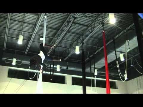 aerial silk cartwheel drop