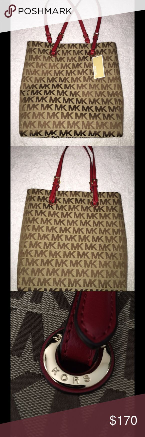Michael Kors Jet Set tote New with tags Michael Kors Jet Set tote in tan & brown. Retails for $198. Michael Kors Bags Totes