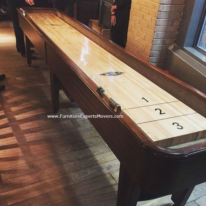 Hathaway Shuffleboard Installation Completed In Potomac Maryland. Call  240 764 6143 By Furniture
