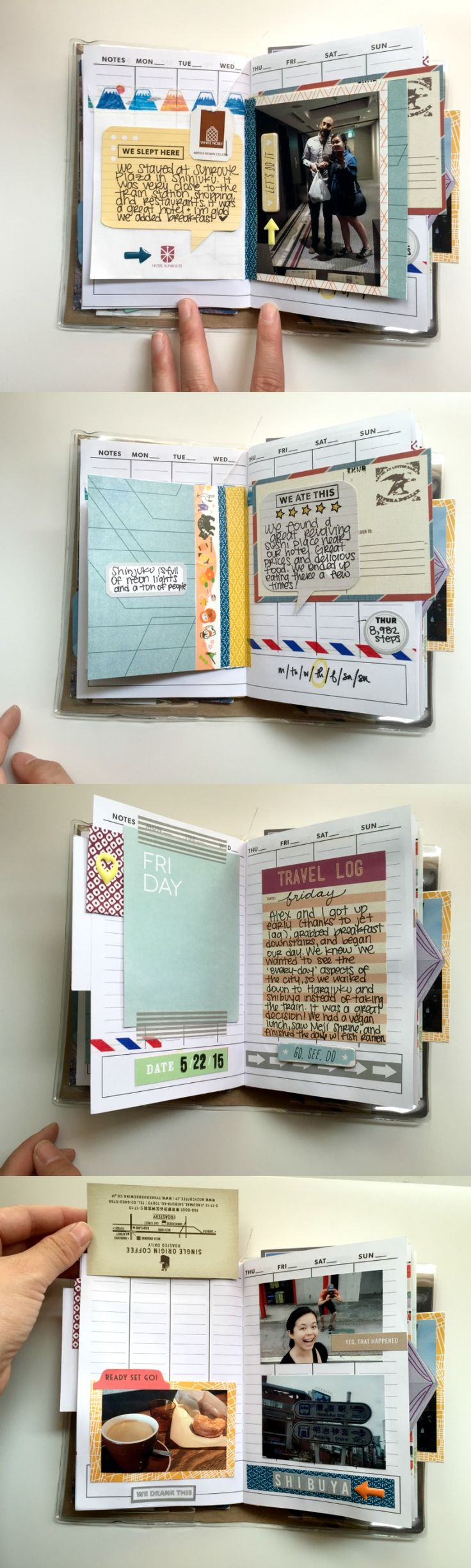 Travel Album Using Kelly Purkey Wallet System - Campfire Chic
