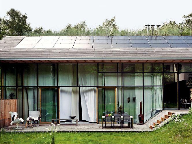 windows and solar panel