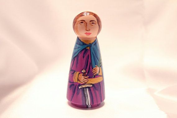 St Victoria wooden doll  made to order by StLukesBrush on Etsy, $23.00
