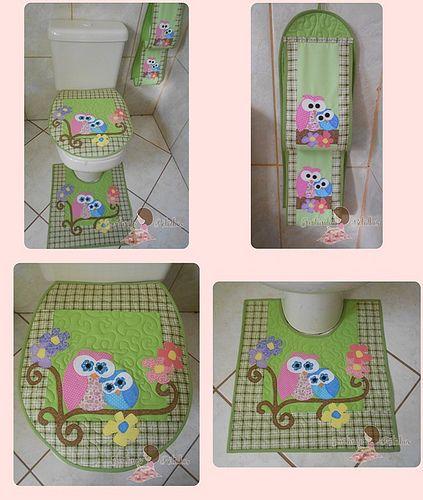 conjunto banheiro Mamãe coruja 2 face