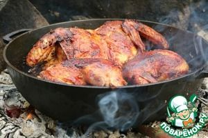 Жареный цыпленок в ароматном масле