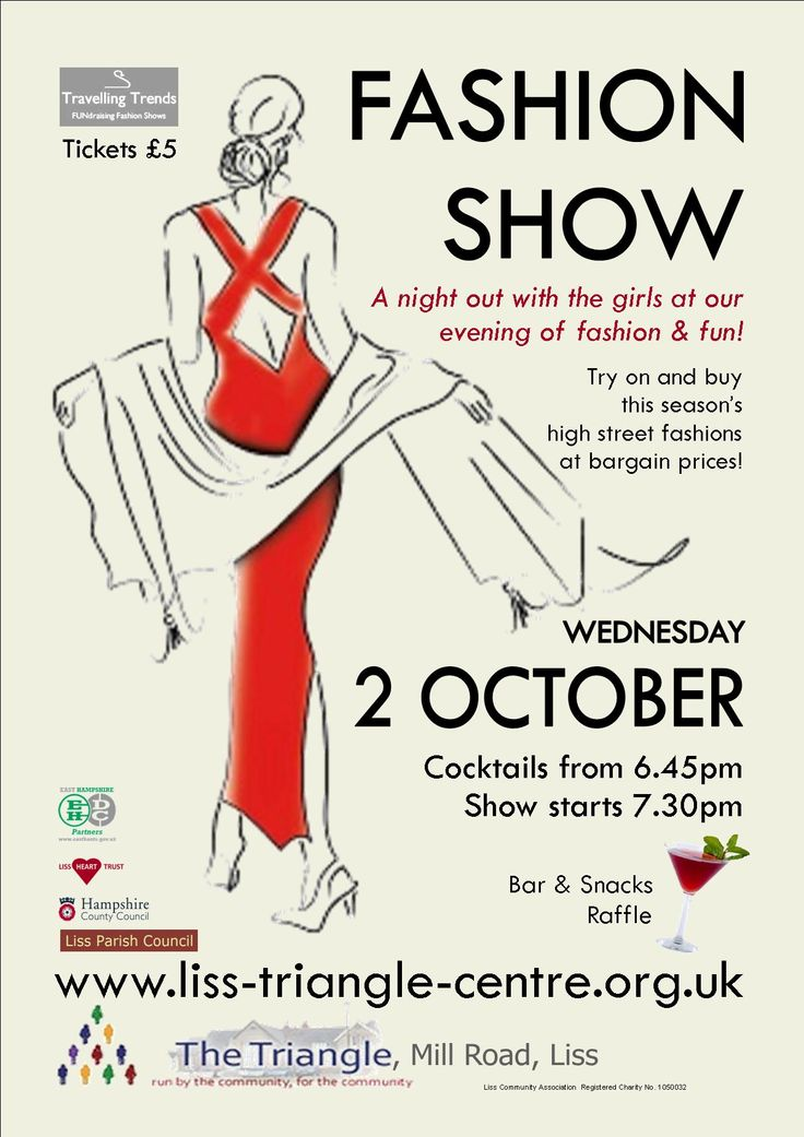 78 best images about poster inspiration on pinterest be for Fashion show ticket template