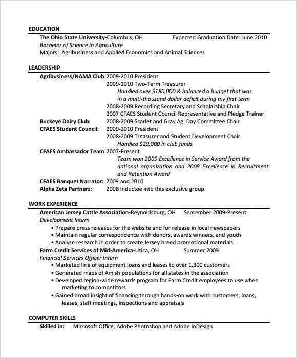 Resume Templates Tamu In 2020
