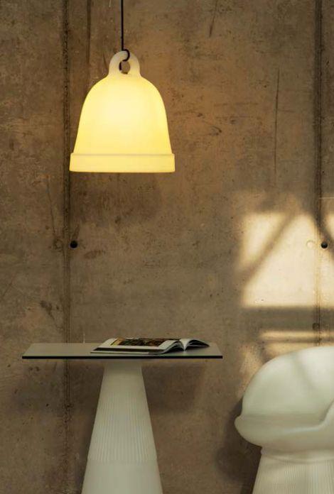 Gezien op Beslist.nl: NewGarden Belly 40 verlichting hanglamp wit kunststof (LED Multicolor Wireless)