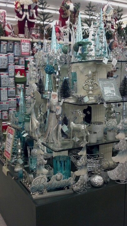 Ice Blue And Silver Christmas Decor At Hobby Lobby