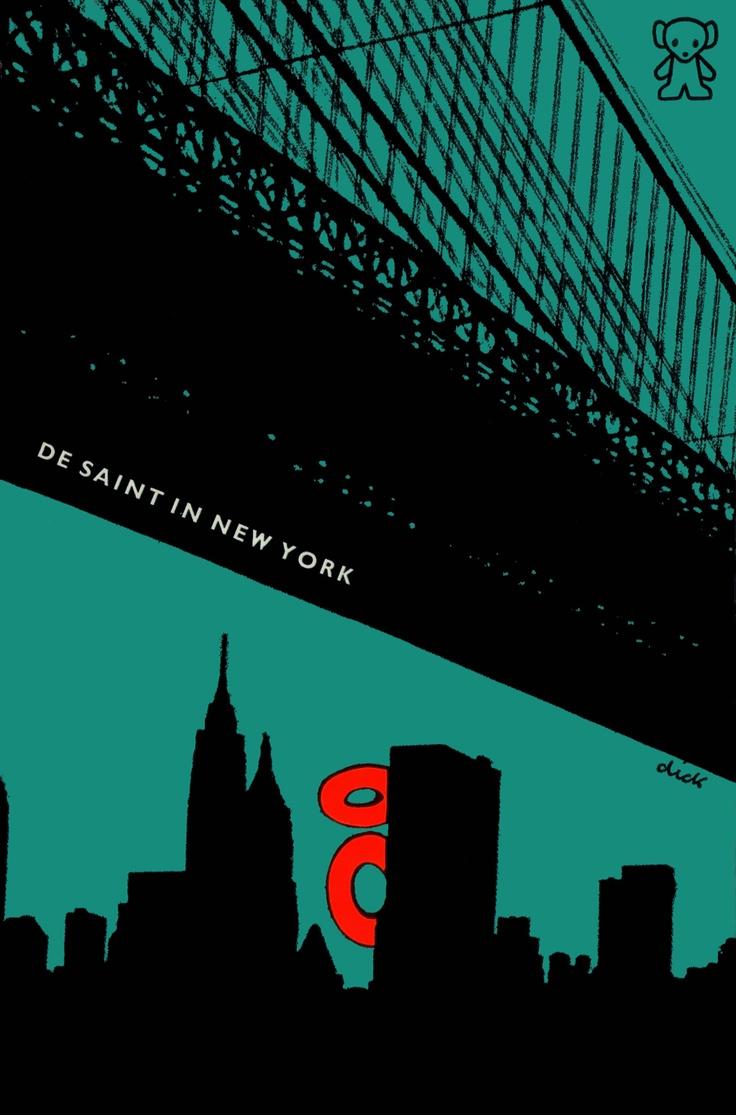 Graphic design poster 101 - De Saint In New York Dick Bruna Cover Nancy Hunt