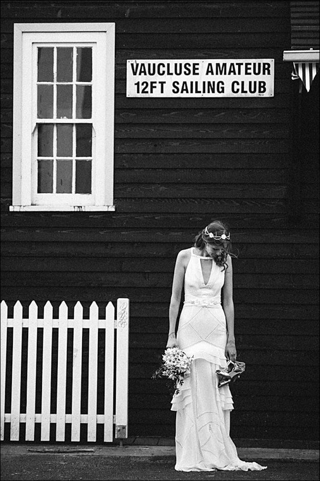 Beautiful Jenny at her Vaucluse Amatuer 12ft Sailing Club wedding. Photography by The Follans - www.thefollans.com.au