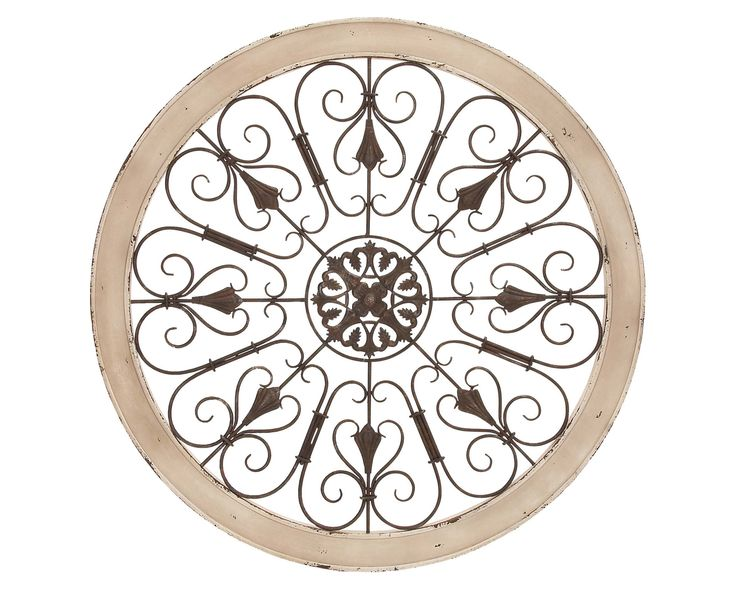 Add Artful Appeal To Your Entryway Or Living Room With This Charming Wall  Decor, Featuring An Ornately Scrolling Openwork Design.