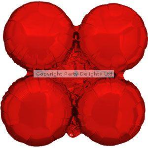 Metallisch roter Ballonbogen aus Folie 74cm