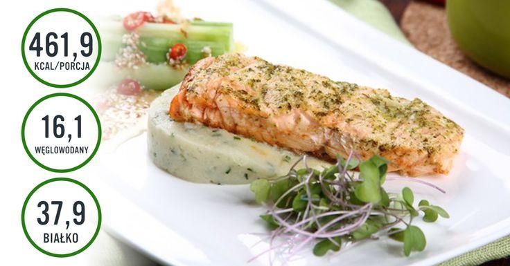 Łosoś na kalafiorowym puree #salmon #christmas #cooking