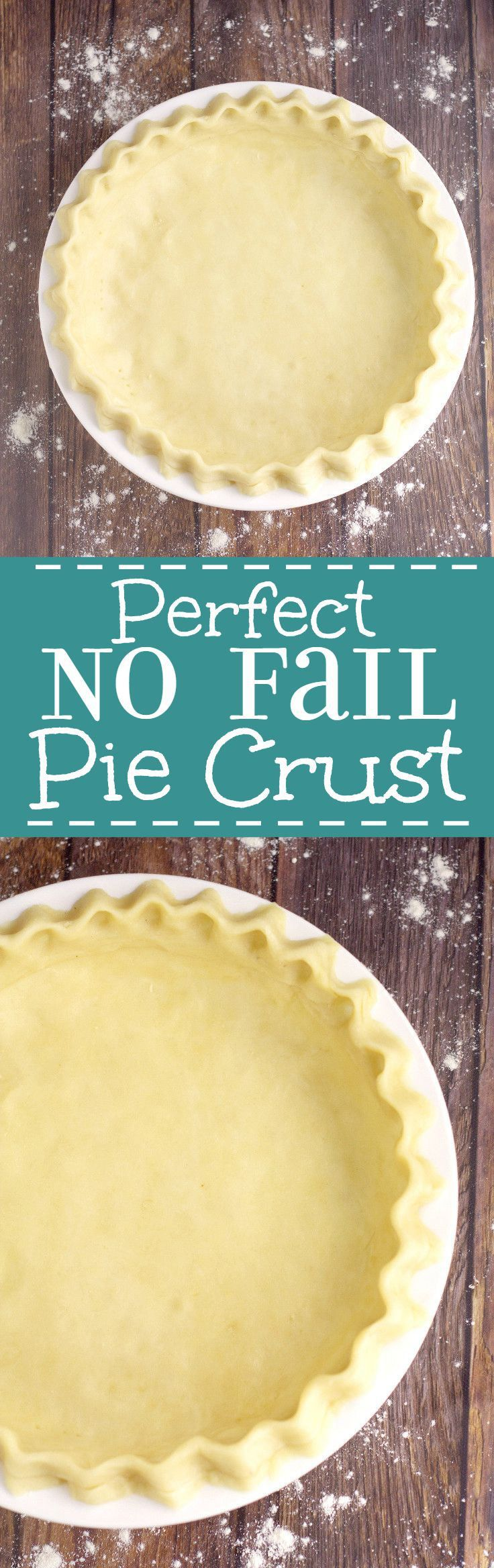 An easy, flaky, no-fail pie crust recipe that comes out perfect, flaky, and delicious. Every. Time. This No Fail Pie Crust Recipe will be the star of the show! It's the only pie crust recipe that I use. Love it.