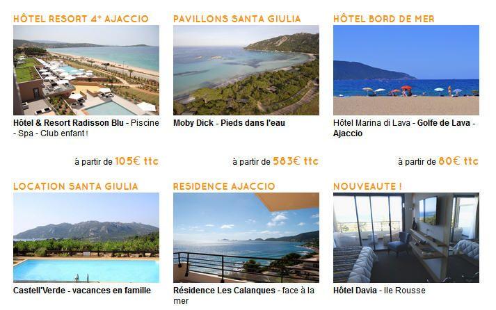 Partir pas cher en Corse, vous avez toujours rêvez de découvrir la Corse alors consultez notre sélection de séjours en Corse dès 85,00 Eur en Camping, Hotels ou Location de Vacances avec La Corse Travel, Interhome, Homair Vacances, Promovacances