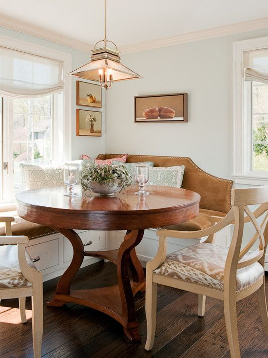 French Country Breakfast Nook Built In Design