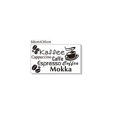 Woorden Soorten van Coffee muurstickers - EUR € 13.49