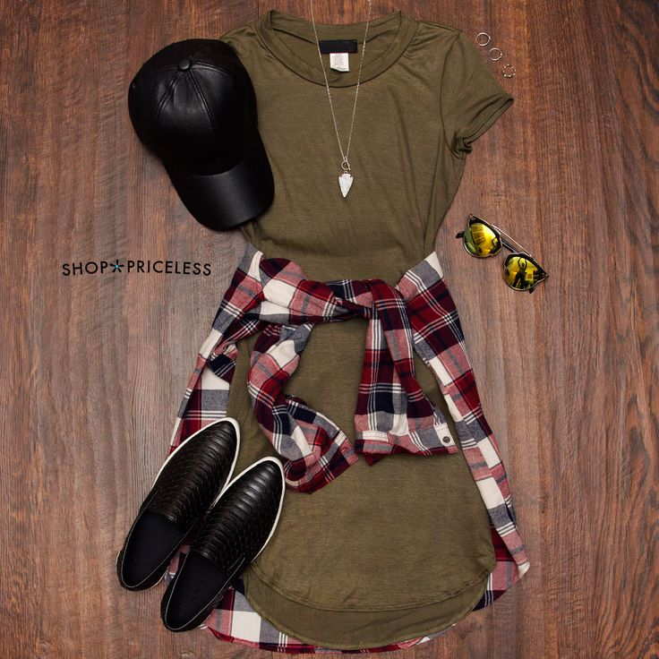 Downtown Basic Dress - Olive