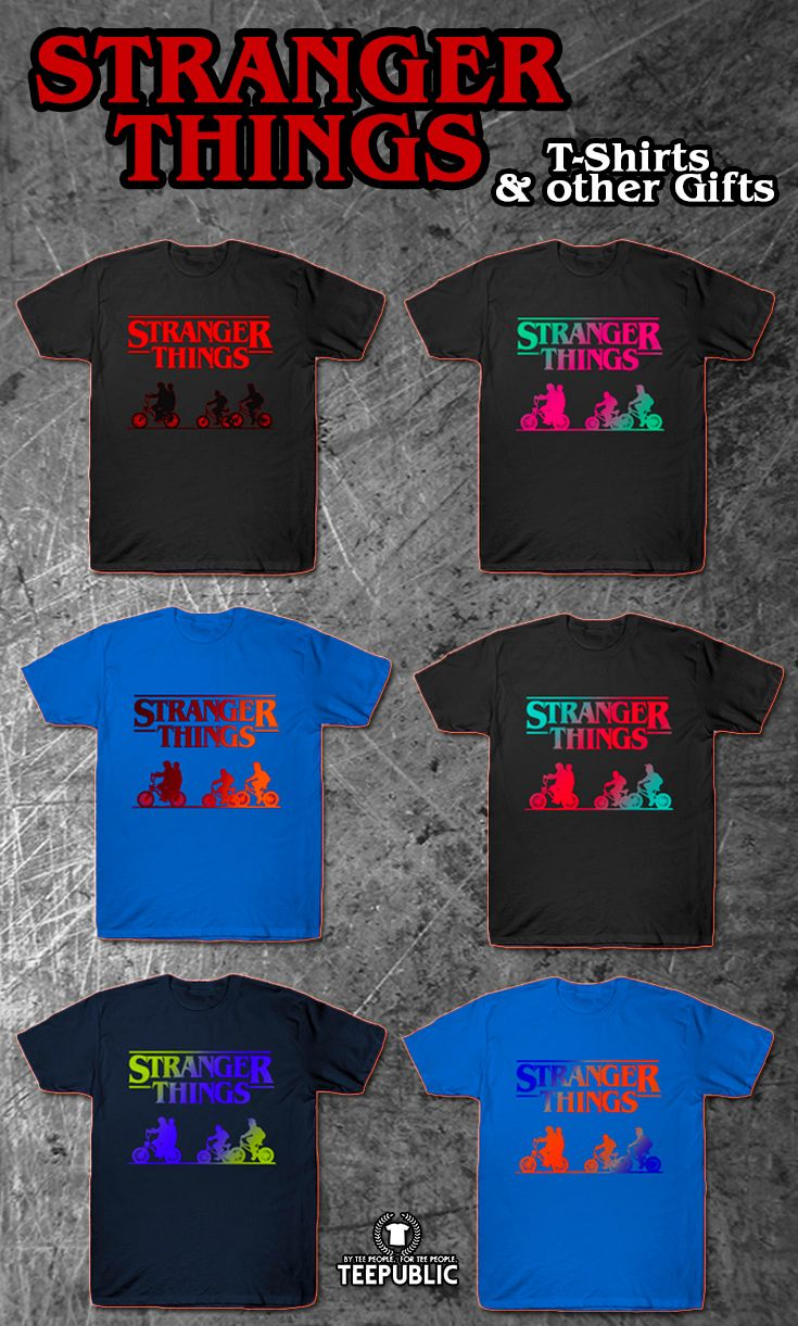 Stranger Things T-Shirts & other gifts #tshirt #strangerthings #tvseries #tv #fashion #style #men #family #strangerthingstshirt #art #design #onlineshopping #tvshow #popular #tvshowtshirt #theupsidedown #giftsforhim #gifts #giftsforher #39;s #teepublic  #teepublic #online #shopping #christmasgifts #xmasgifts  * Also buy this artwork on posters, tote bags, stickers, phone cases, and many more!