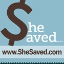 ... because what she didn't spend, she saved!