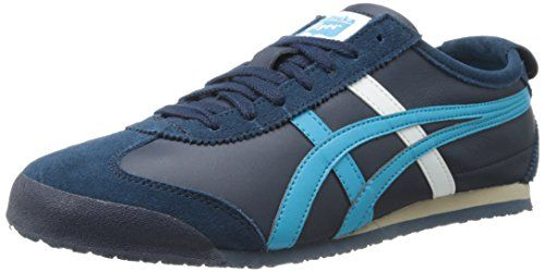 Onitsuka Tiger Mexico 66 Fashion Sneaker,Navy/Atomic Blue,7.5 M US/9 Women's M US. Sleek, low-cut sneaker known for its popularity during the '68 Mexico Olympic Games. Rubber. Size: 7.5 US/9 Women's M US. Logo heel tab. Pinking-edged overlays. Rubber sole.