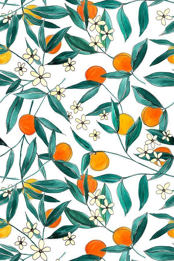Orange Summer par la théorie et l'encre. Un motif lumineux et joyeux de man