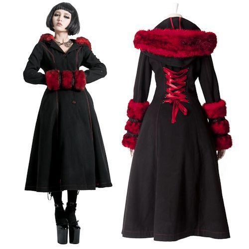 Designer Black and Red Wool Goth Fashion Winter Trench Coats Women . - Best 25+ Ladies Coat Design Ideas On Pinterest Ladies Coats